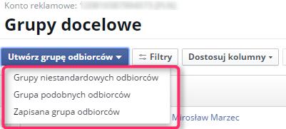facebook grupy docelowe